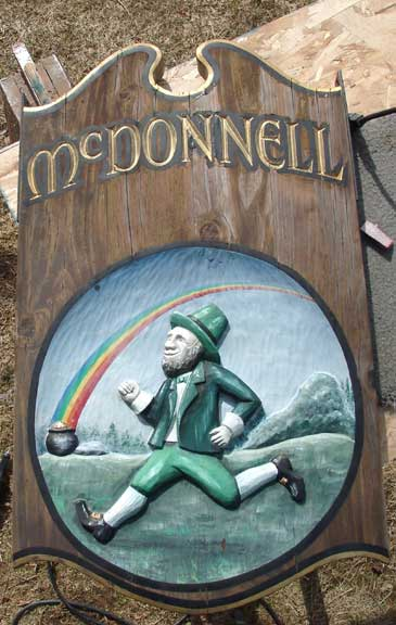 Mcdonnell Tavern Sign, Home Sign, Residential Sign, refinish